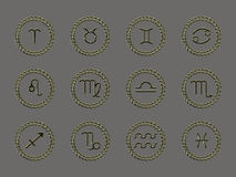 Horoscope signs Stock Image