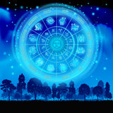 Horoscope on the sky Royalty Free Stock Images