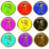 Horoscope symbol buttons Stock Photo