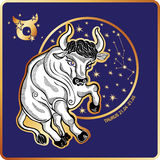 Horoscope.Taurus zodiac sign Stock Photography