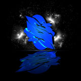 Horoscope twin. Horoscope zodiac twin on black background with stars abstract 3d illustration Stock Photography
