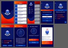 Horoscope ui design app android royalty free illustration