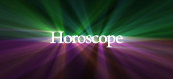 Horoscope word with mysterious light flare Royalty Free Stock Images