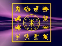 Horoscope, the zodiac. Stock Photos