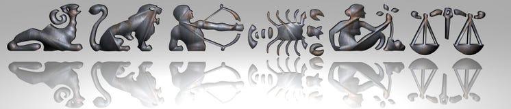 Horoscope - zodiac - Rusty metal royalty free stock photo