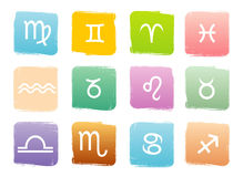 Horoscope zodiac signs Stock Images