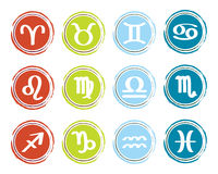 Horoscope zodiac signs Royalty Free Stock Photos