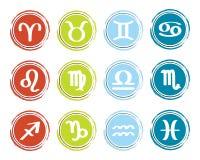 Horoscope zodiac signs Royalty Free Stock Photos