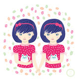 Horoscope. Zodiac signs-Gemini. Royalty Free Stock Photo
