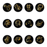 Horoscope Zodiac  Star signs,  set. Royalty Free Stock Photography