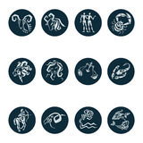Horoscope Zodiac  Star signs,  set. Stock Images