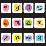 Horoscope Zodiac  Star signs, vector set Royalty Free Stock Photo