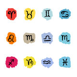 Horoscope Zodiac Star signs, vector set. Royalty Free Stock Photography