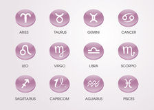 Horoscope zodiacal icons. Zodiacal symbol astrological astrology month stock illustration