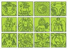 Horoscope - zodiaque Images libres de droits