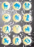 horoskop Royaltyfria Bilder