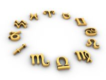 horoskop Royaltyfria Foton