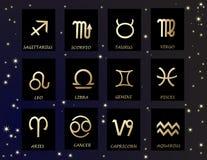 horoskop vektor illustrationer