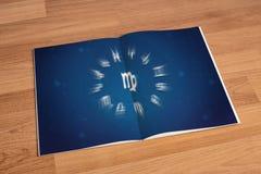 Horoskop astrologii zodiaka przepowiedni pomyślności Tradycyjny znak L Zdjęcie Royalty Free