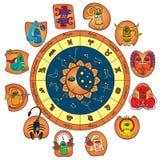 Horoskop der lustigen Monster Stockfotografie