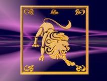 horoskop leo Arkivbild