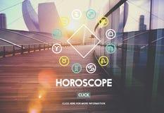 Horoskop mitologii tajemnicy wiary astrologii pojęcie royalty ilustracja
