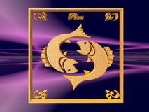 horoskop pisces Royaltyfri Fotografi