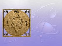 horoskop pisces stock illustrationer