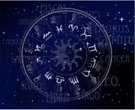 horoskop podpisuje niebo zodiaka Obraz Royalty Free