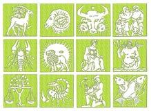 Horoskop - Tierkreis Stockfotografie