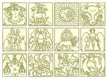 Horoskop - Tierkreis Stockbild