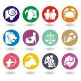 Horoskop-Tierkreis-Abbildung Stockbilder