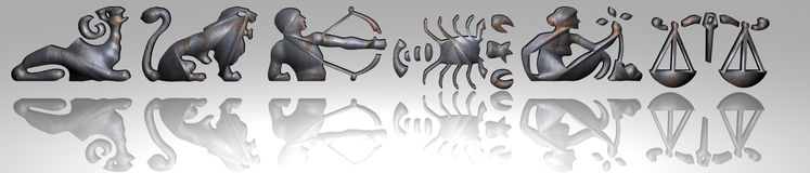 Horoskop - Tierkreis - rostiges Metall Lizenzfreies Stockfoto