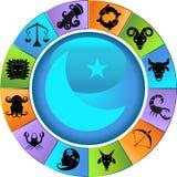 horoskophjulzodiac Arkivfoto