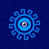 Horoskopsymbol/logo Konstillustration vektor illustrationer