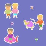 Horoskopu aries ryba bliźniacy ilustracja wektor