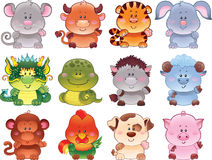 horoskopów chińscy symbole Obrazy Royalty Free