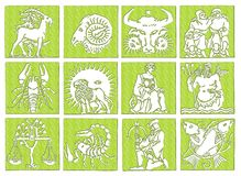 horoskopzodiac vektor illustrationer