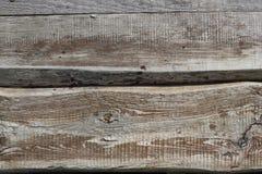 Horozontal bakgrund för två gammal texturerad bräden Arkivfoton