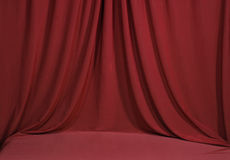 Horozontal Draped Red Velvet Royalty Free Stock Images