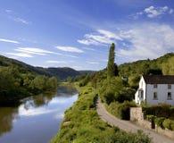 Horqueta del río el inglés de País de Gales del monmouthshire del gloucestershire del valle de la horqueta Imágenes de archivo libres de regalías