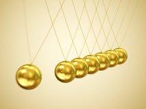 Horquilla de Newton de equilibrio de las bolas Imagen de archivo