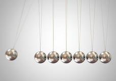 Horquilla de Newton de equilibrio de las bolas Imagen de archivo libre de regalías