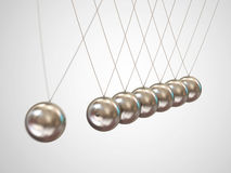 Horquilla de Newton de equilibrio de las bolas Imagenes de archivo