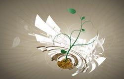 Horquilla para acunar el fondo con floral abstracto Imagen de archivo libre de regalías