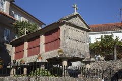 Horreo保持的传统建筑在北西班牙收获了五谷 图库摄影