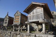 Horreo保持的传统建筑在北西班牙收获了五谷 库存图片