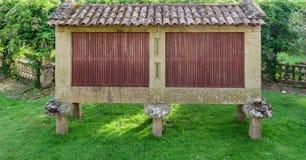 Horreo,典型的西班牙粮仓 免版税库存图片