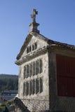 Horreo μια παραδοσιακή κατασκευή για να κρατήσει το συγκομισμένο σιτάρι στη βόρεια Ισπανία Στοκ Εικόνες