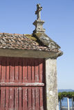 Horreo традиционная конструкция, который нужно держать сжало зерно в северной Испании Стоковые Фотографии RF